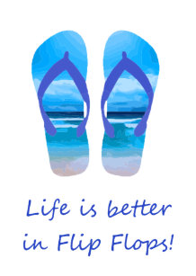 378a4e118 Life is Better in Flip Flops Fun Beach Quote Gift Tags