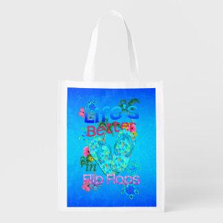 Life Is Better In Flip Flops Grocery Bag