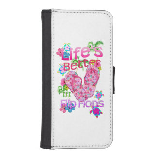 Life Is Better In Flip Flops iPhone SE/5/5s Wallet Case