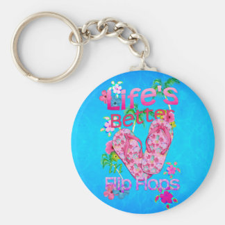 Life Is Better In Flip Flops Keychain