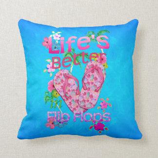 Life Is Better In Flip Flops Throw Pillows