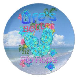 Life Is Better In Flip Flops Dinner Plates