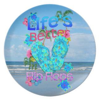 Life Is Better In Flip Flops Dinner Plate