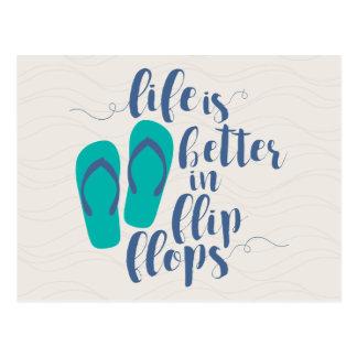 Life is better in Flip Flops Postcard