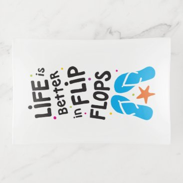 Beach Themed Life is Better in Flip Flops Quote Trinket Trays