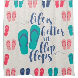 Life Is Better In Flip Flops Shower Curtain  Flip Flop Shower Curtain