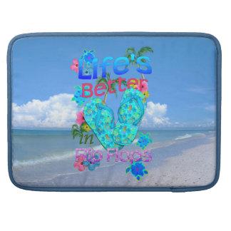 Life Is Better In Flip Flops Sleeve For MacBooks