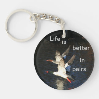 Life is Better in Pairs Acrylic Double Keychain
