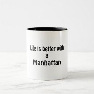 Life Is Better Manhattan Two-Tone Coffee Mug
