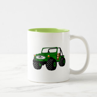 Life is Better Off Road Two-Tone Coffee Mug