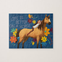 """""""Life Is Better On A Horse"""" Lucky & Spirit Jigsaw Puzzle"""