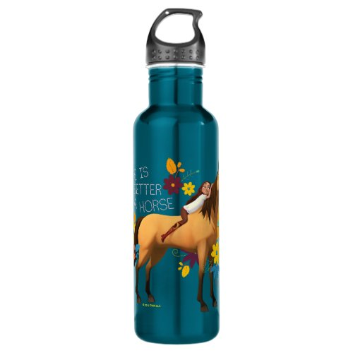 """""""Life Is Better On A Horse"""" Lucky & Spirit Stainless Steel Water Bottle"""