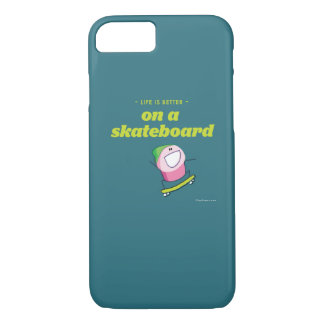 Life is better on a skateboard iPhone 8/7 case