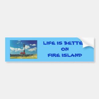 'Life is Better on Fire Island' Bumper Sticker