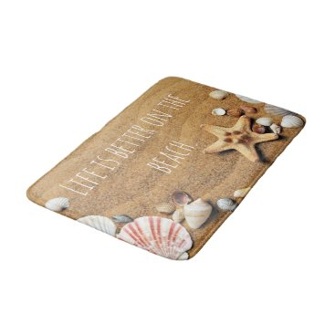 Beach Themed Life is Better On the beach Fun Nautical inspired Bathroom Mat