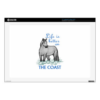 """Life Is Better On The Coast Decals For 17"""" Laptops"""