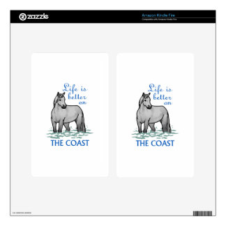 Life Is Better On The Coast Kindle Fire Decals