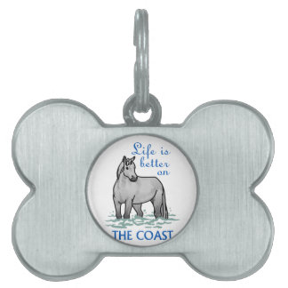 Life Is Better On The Coast Pet Name Tag