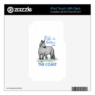 Life Is Better On The Coast Skin For iPod Touch 4G