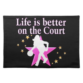 LIFE IS BETTER ON THE COURT CLOTH PLACEMAT