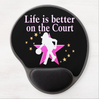 LIFE IS BETTER ON THE COURT GEL MOUSE PAD