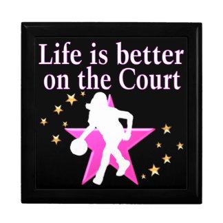 LIFE IS BETTER ON THE COURT KEEPSAKE BOX