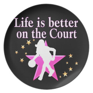 LIFE IS BETTER ON THE COURT MELAMINE PLATE