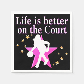 LIFE IS BETTER ON THE COURT NAPKIN