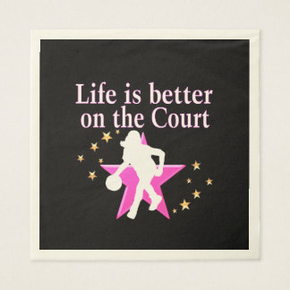 LIFE IS BETTER ON THE COURT PAPER NAPKIN
