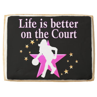 LIFE IS BETTER ON THE COURT SHORTBREAD COOKIE
