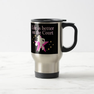LIFE IS BETTER ON THE COURT TRAVEL MUG