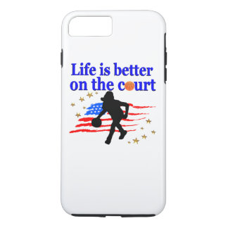 LIFE IS BETTER ON THE COURT USA DESIGN iPhone 8 PLUS/7 PLUS CASE