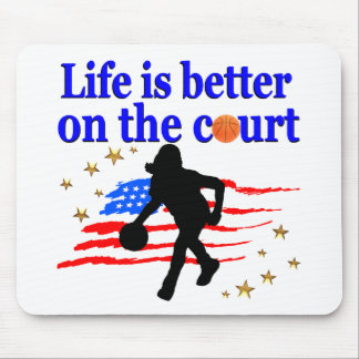 LIFE IS BETTER ON THE COURT USA DESIGN MOUSE PAD