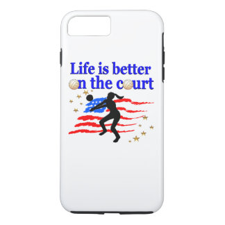 LIFE IS BETTER ON THE COURT USA VOLLEYBALL DESIGN iPhone 8 PLUS/7 PLUS CASE