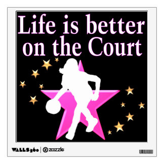 LIFE IS BETTER ON THE COURT WALL STICKER