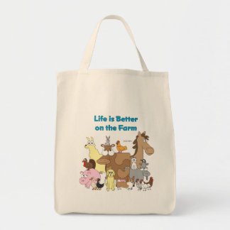 Life is Better on the Farm - Grocery Bag