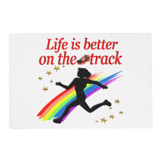 LIFE IS BETTER ON THE TRACK RUNNER DESIGN PLACEMAT
