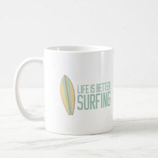 Life is better surfing! coffee mug