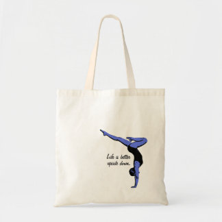 Life is better upside down - handstand tote bag