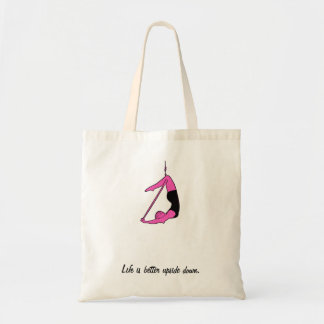 Life is better upside down - lyra tote bag