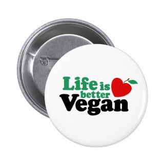 Life Is Better Vegan Button