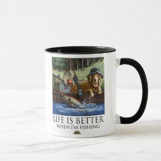 Life Is Better When I'm Fishing - Yellow Lab Mug