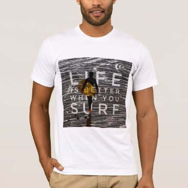 Beach Themed LIFE IS BETTER WHEN YOU SURF - Steel Grey T-Shirt