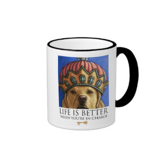 Life Is Better When You're In Charge - Lab Queen Ringer Coffee Mug