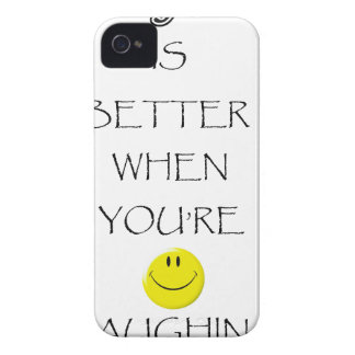 life is better when you're laughing iPhone 4 cover