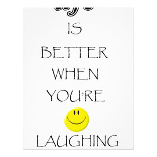 life is better when you're laughing letterhead