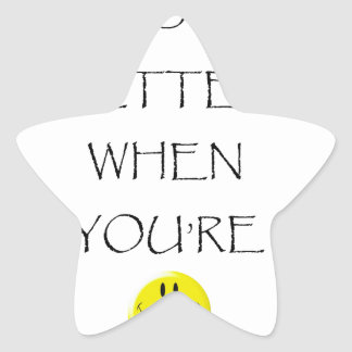 life is better when you're laughing star sticker