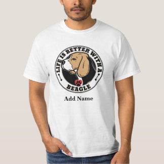 Life Is Better With A Beagle Personalized Tee Shirt