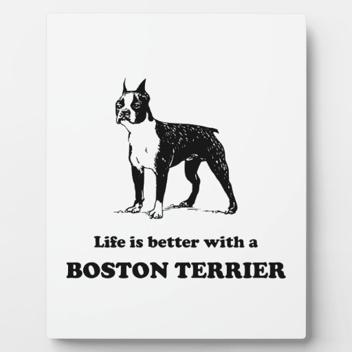 Life Is Better With A Boston Terrier Photo Plaque