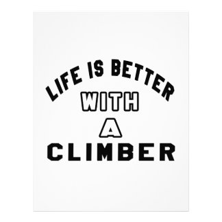 Life Is Better With A Climber. Customized Letterhead